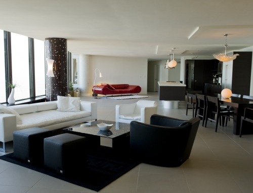 2 Merged Condos and Contemporary Furniture