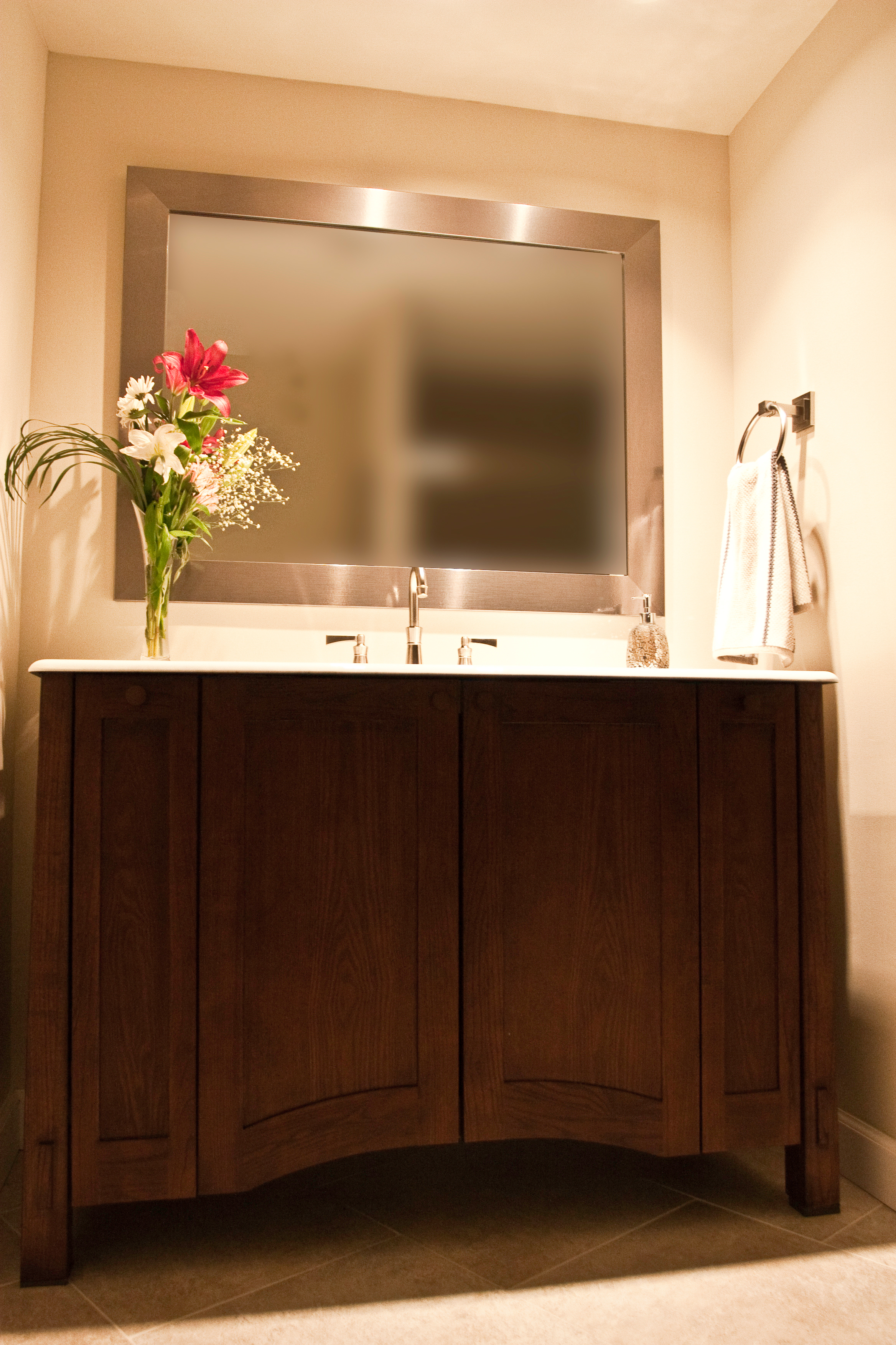 Kohler vanity, counter and faucet;