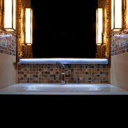Earthy Bathroom with Dimmers